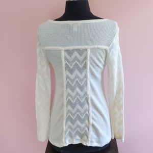 Lucky Brand Tops - Lucky Brand Ginny Lace Thermal Long Sleeve Top